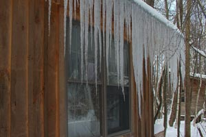 My cabin in winter