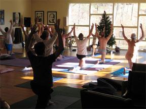 Sunfire in yoga class