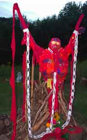 Effigy with paper chains