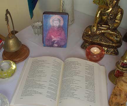 Koran on Altar at Easton Mountain