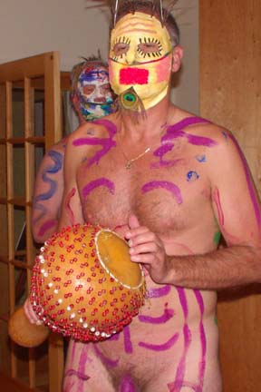 Man with mask and body paint
