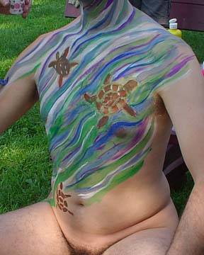 Man with Body Paint