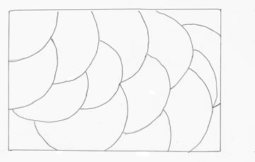 A line drawing using a compas