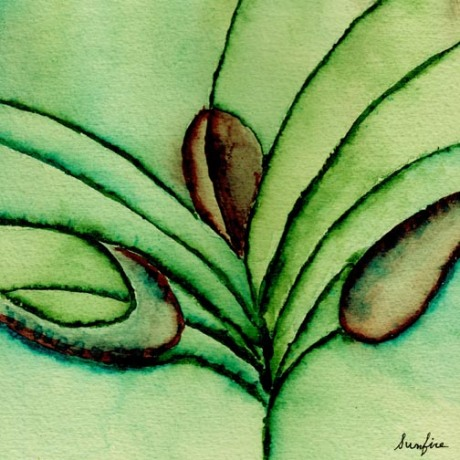 Painting of plant=like form